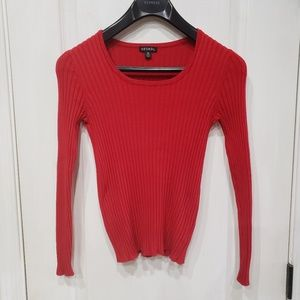 George Fitted Long Sleeve Scoop Neck